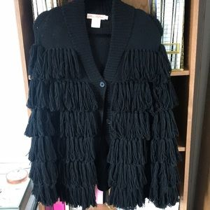 Mara Hoffman fringe sweater coat